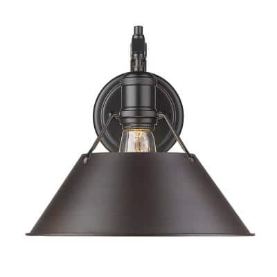 Orwell 4.875 in. 1-Light Matte Black Sconce