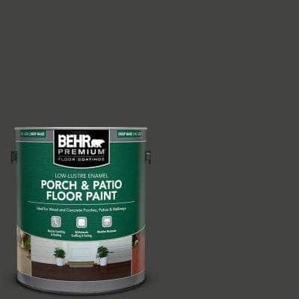 1 gal. #SC-102 Slate Low-Lustre Enamel Interior/Exterior Porch and Patio Floor Paint
