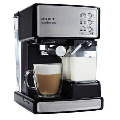 1-Cup Cafe Barista in Black Stainless Steel