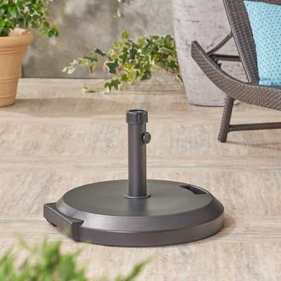 Lao 80.47 lbs. Concrete and Plastic Patio Umbrella Base in Black