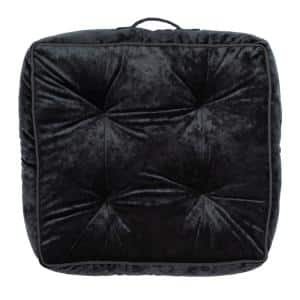 Primrose 18 in. x 18 in. Black Polyfill Square Floor Pillow