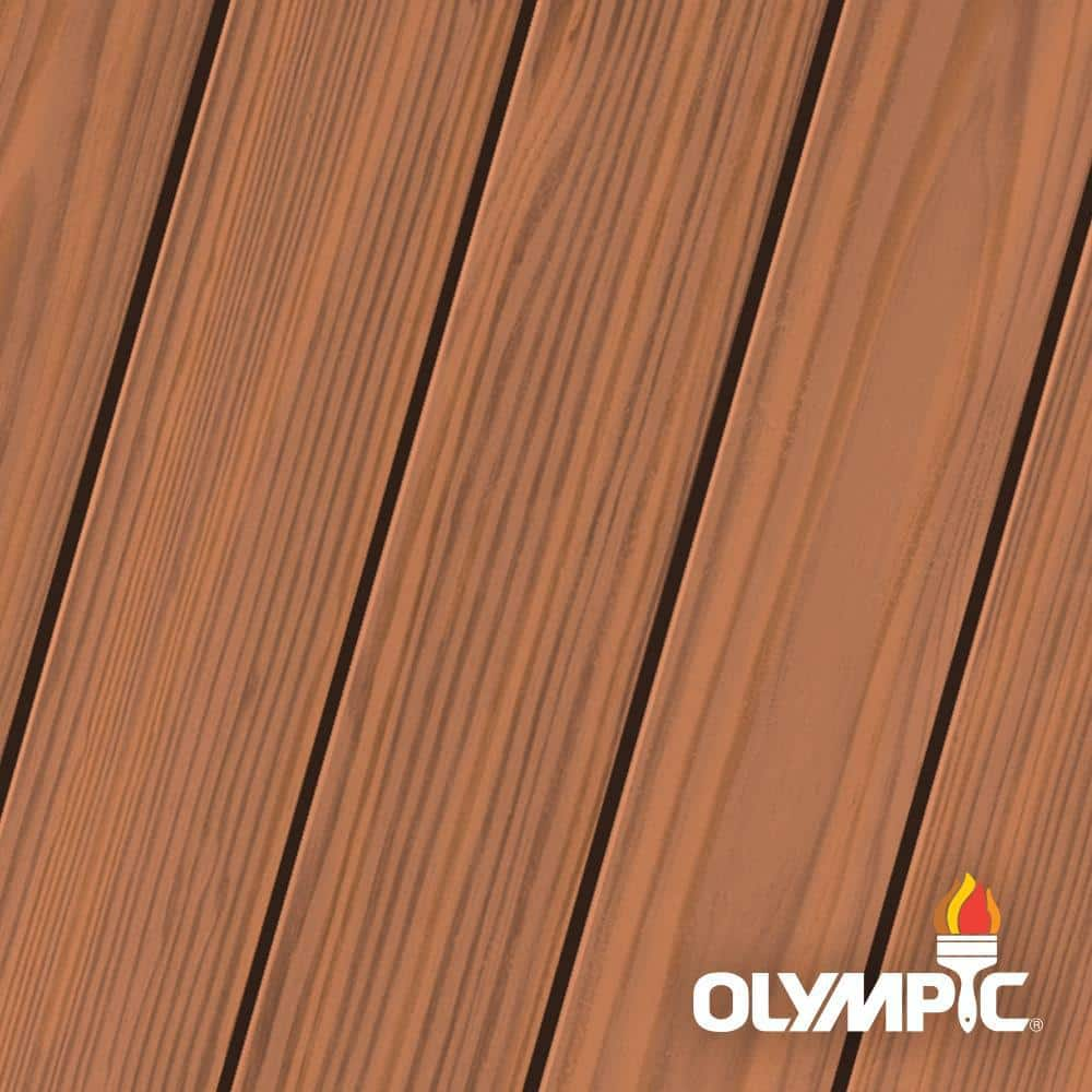 Olympic Elite 8-oz. Redwood EST704 Semi-Transparent Exterior Stain and Sealant in One Low VOC