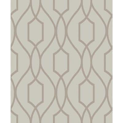 Evelyn Bronze Trellis Paper Strippable Roll (Covers 56.4 sq. ft.)