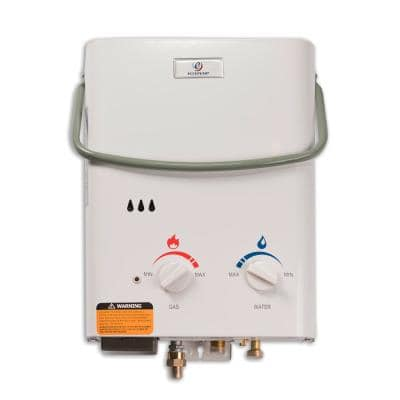 L5 1.5 GPM Portable 37,500 BTU Liquid Propane Outdoor Tankless Water Heater with Flojet Water Pump