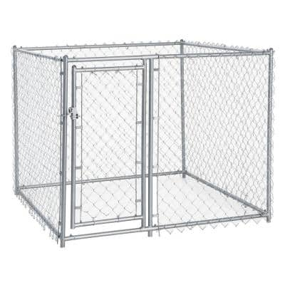 4 ft. H x 5 ft. W x 5 ft. L Galvanized Chain Link with PC Frame Kit in a Box