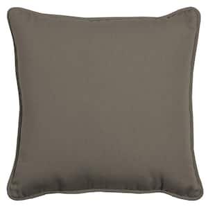 Oasis 20 in. Mink Square Indoor/Outdoor Throw Pillow