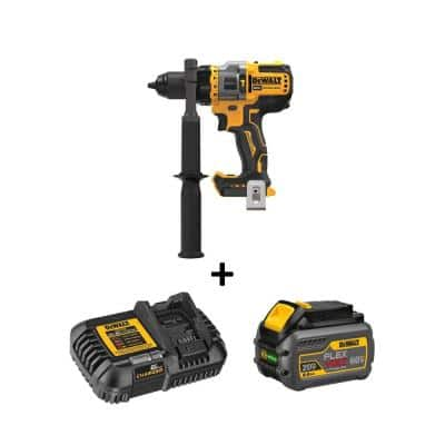 20-Volt MAX Cordless Brushless 1/2 in. Hammer Drill/Driver with FLEXVOLT ADVANTAGE with (1) FLEXVOLT 6.0Ah Battery Kit