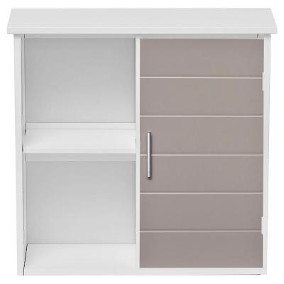DIY 24 in. W Wall Mount Bathroom Wall Cabinet in White and Taupe