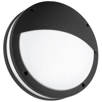 Black LED Outdoor 3000K Dimmable Weatherproof Decorative Bulkhead Light Warm in White