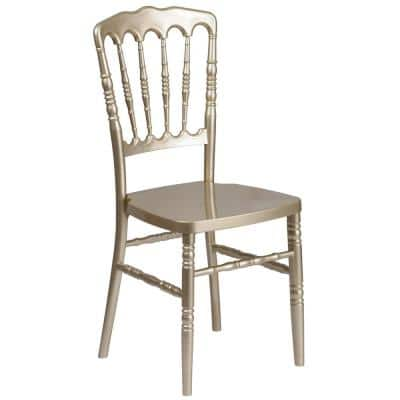 Gold Resin Side Chair
