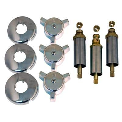 Tub and Shower Rebuild Kit for Eljer Luster Line 3-Handle Faucets