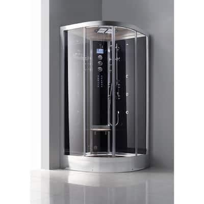 Luxury 39 in. x 39 in. x 89 in. 1-Person Corner Steam Shower with Vitamin Shower