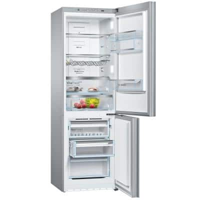 800 Series 24 in. 10 cu. ft. Bottom Freezer Refrigerator in Black Glass, Counter Depth
