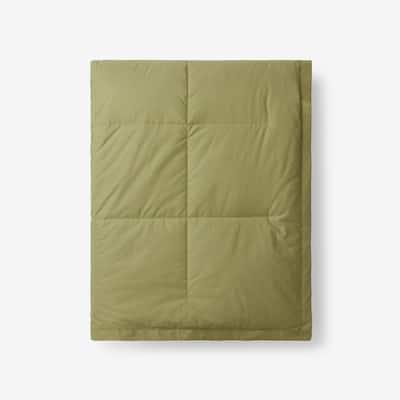 LaCrosse LoftAIRE Down Alternative Fern Green Cotton Throw Blanket