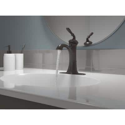 Devonshire Single Hole Single Handle Water-Saving Bathroom Faucet in Oil Rubbed Bronze