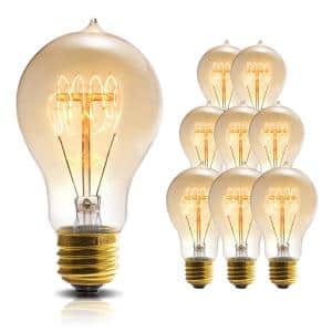 60-Watt A19 E26 Edison Incandescent Light Bulb in Warm White 2700K (8-Pack)