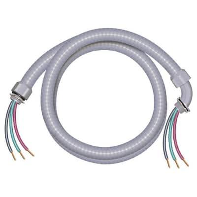 4 ft. 8/2 Ultra-Whip Liquidtight Flexible Non-Metallic PVC Conduit Cable Whip