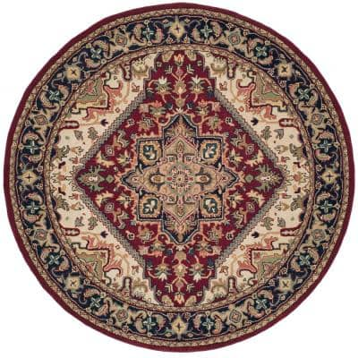 Heritage Red 8 ft. x 8 ft. Round Area Rug