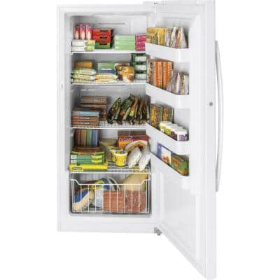 Garage Ready 14.1 cu. ft. Frost Free Upright Freezer in White