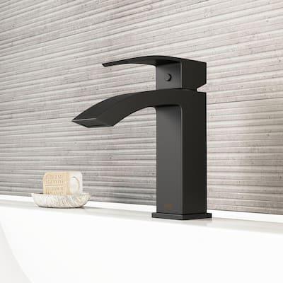 Satro Single Hole Single-Handle Bathroom Faucet in Matte Black