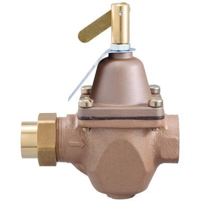 1/2 in. Cast-Brass FIP x Sweat Water Pressure Regulator