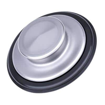 Universal Sink Stopper for Garbage Disposals in Stainless Steel