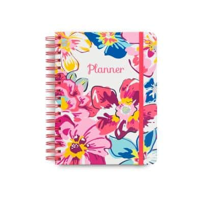 6 in. x 7.75 in. Undated Planner, Pretty Posies