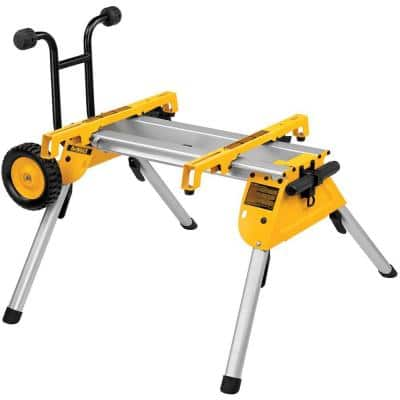 33 lbs. Heavy Duty Rolling Table Saw Stand with Quick-Connect Stand Brackets with 200lbs. Capacity