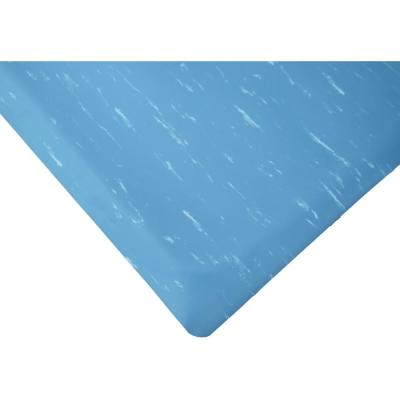 Marbleized Tile Top Blue 2 ft. x 8 ft. x 7/8 in. Anti-Fatigue Commercial Mat