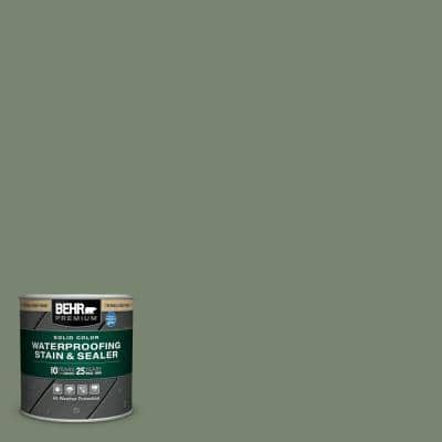 8 oz. #SC-126 Woodland Green Solid Color Waterproofing Exterior Wood Stain and Sealer Sample