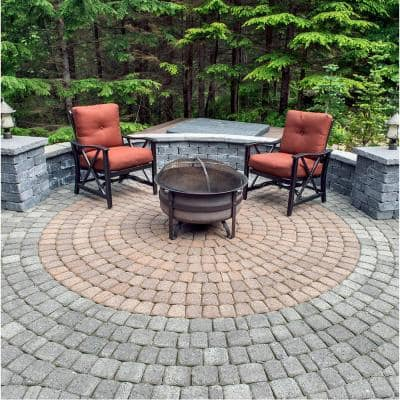 83.52 in. x 83.52 in. x 2.375 in. Cascade Blend Concrete Old Dominion Paver Circle Kit