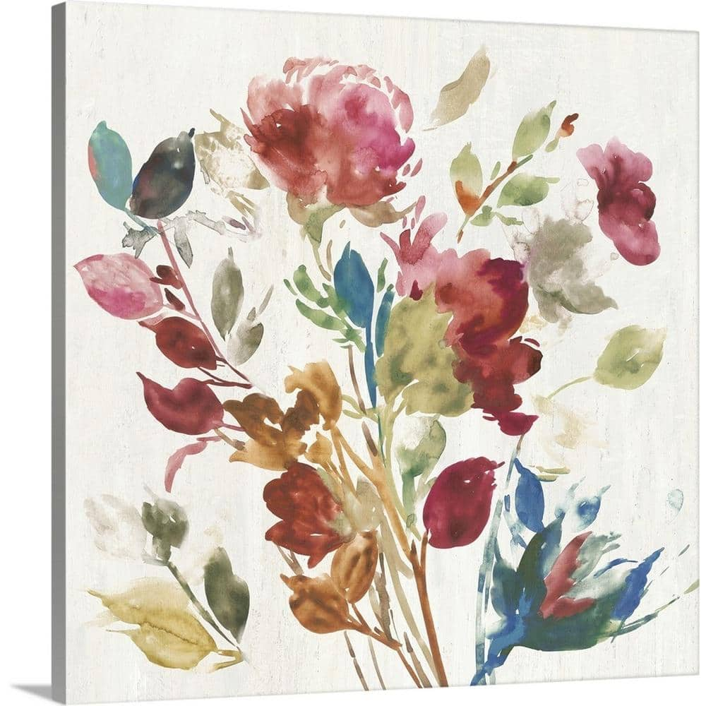 Greatbigcanvas Vintage Floral I By Asia Jensen Canvas Wall Art 2481567 24 36x36 The Home Depot
