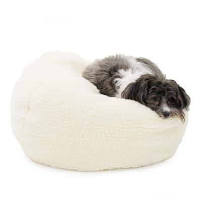 X-Large Sherpa Puff Ball Dog Bed