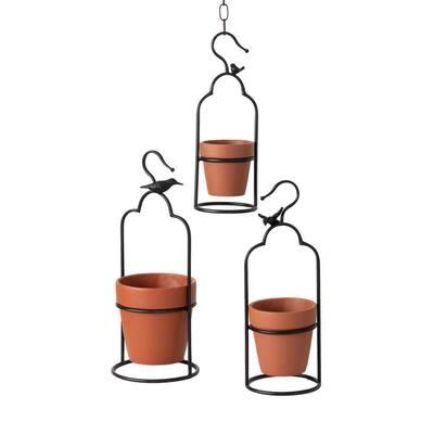 Multi-Color Ceramic Hanging Pot (Set of 3)