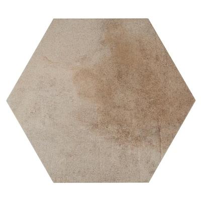 Metro Beige Hexagon 14 in. x 16 in. Matte Glazed Porcelain Floor and Wall Tile (10.07 sq. ft. / Case)
