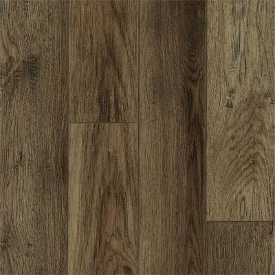 Rigid Core Essentials South Creek Brown 6 in. W x 48 in. L Click Lock Luxury Vinyl Plank (18.8 sq. ft./case)