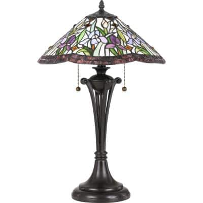 White Valley 24.5 in. Vintage Bronze Table Lamp