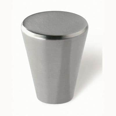 3/4 in. Fine Brushed Stainless Steel Cabinet Knob