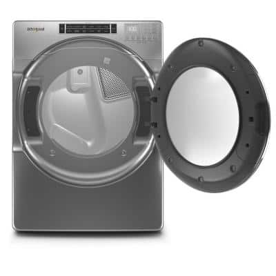 7.4 cu. ft. 120-Volt Chrome Shadow Stackable Gas Vented Dryer with Steam and Intuitive Touch Controls, ENERGY STAR