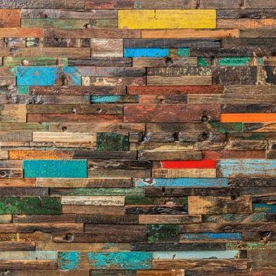 Timber Nargusta 11.81 in. x 23.62 in. x 10mm Wood Mosaic Wall Tile (1.93 sq. ft.)