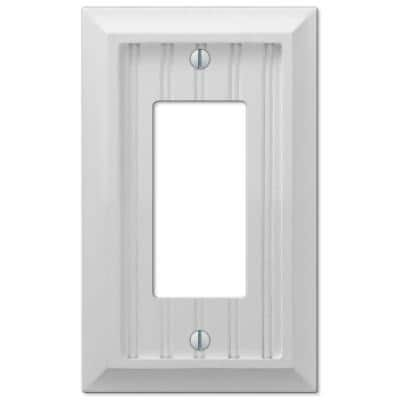 Cottage 1 Gang Rocker Composite Wall Plate - White