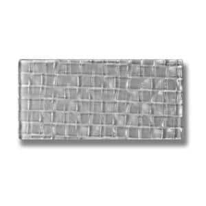 Metro Cubes Pebble Gray Subway 3 in. x 6 in. Textured Glass Wall Tile (1 Sq. ft./Pack)