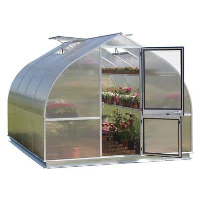 7 ft. 8 in. W x 14 ft. Long Greenhouse with Shelf Kit and Base