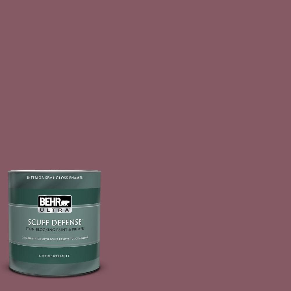 Behr Ultra 1 Qt 100d 5 Berries And Cream Extra Durable Semi Gloss Enamel Interior Paint Primer 375304 The Home Depot