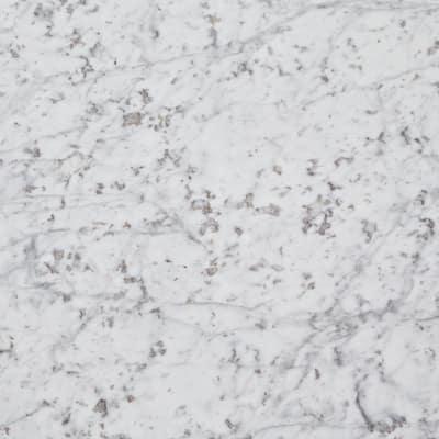 3 in. x 3 in. Marble Countertop Sample in Carrara White Marble
