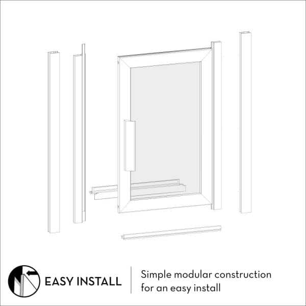 Coastal Shower Doors Paragon 32 In To 32 75 In X 66 In Framed Continuous Hinged Shower Door In Brushed Nickel With Aquatex Glass P32 66n A The Home Depot