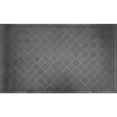 Wrought Iron Scrapper Diamond 59 in. x 35.5 in. Rubber Door Mat