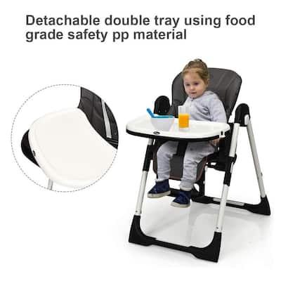 Dark Gray Metal Frame Multiple Adjustable folding chair with Backrest