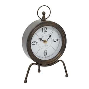 Brown Metal Contemporary Clock