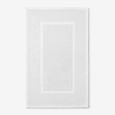 Legends Luxury Sterling White 34 in. x 21 in. Cotton Bath Mat